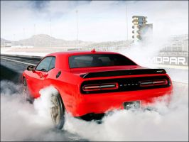 Dodge Challenger Hellcat Burnout by D3516N3R