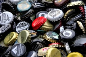 beer bottlecaps 5 by Kvaale