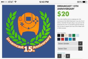 Dreamcast 15th Anniversay t-Shirt by spdy4