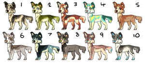 dog adopts by Redrie