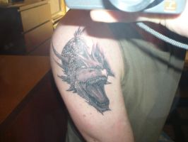 Dragon tattoo on arm by gcneo