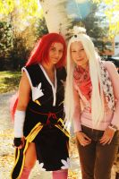 Erza Scarlet and Mirajane Fairy Tail by Jacindazs