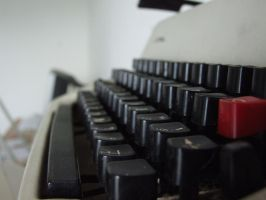 Typewriter stock by chrbet