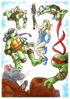 TMNT: Renet and the Guys by loolaa