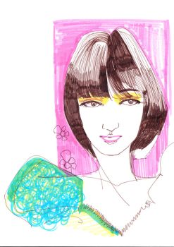Fashion Illus Pink Bob by mia-p