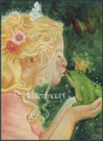 The Frog Prince ACEO by Katerina-Art