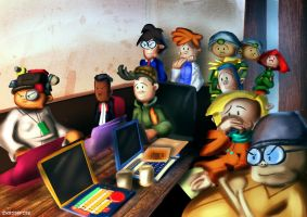 Kids Next Door Situation Room by Kroizat