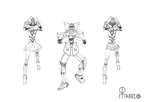 Gundam Style and Gundettes by Marcelo-C-C-Filho