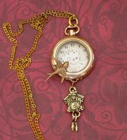 Time Flys Steampunk Necklace by cjgrand