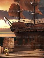 Pirate's dock 01 by Trisste-stock