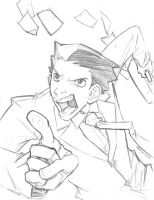 Phoenix Wright Sketch by ChrissyDelk