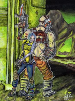 Maya and Krieg visit the Caustic Caverns by Bewildermunster