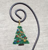 Seed bead christmas tree by AxmxZ