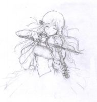 I wanted to draw a violin by Sinussa