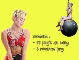 Miley Png's by FELIXX547