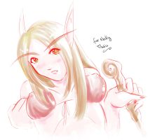 Blood Elf Doodle by Zirconia