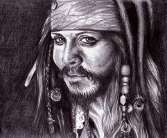 Captain Jack Sparrow by LeahRosslyn
