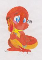 Bashful Charmander by awesomestarz