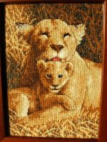 Lion Cross Stitch by Santian69