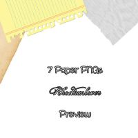 7 Paper PNGs by rhodiumlover
