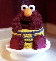 Elmo Cake by DancesWithWacom