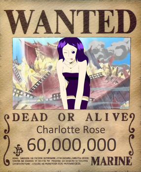 Charlotte's wanted poster- After Arlong Park by CharleneRosette