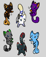 Kitty Adopt Sheet 1 OPEN by A-to-Z-Adopts