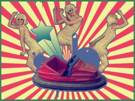dodgems and retro dancers Oo by artrogs