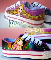 Rapunzel shoes by Raw-J