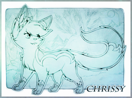 WIP Chrissy poster by CrispyCh0colate