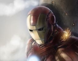 iron man speedpaint by alecyl