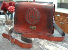 Messenger Bag One by Blackthornleather