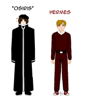 References: Osiris and Hermes from Pacificators by SailorEnergy