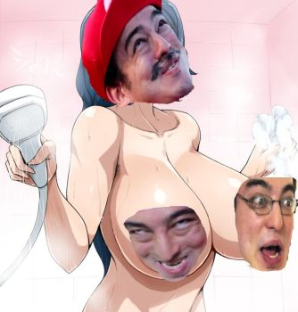 papa franku in the shower by Blockington