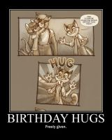 Birthday Hugs Poster by tomthefanboy
