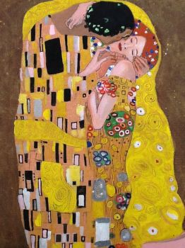 The Kiss by Klimt by Nigeloneill
