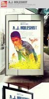 A.J. Holeshot Movie Poster Template by loswl