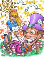 Alice and The Mad Hatter by Dreekzilla
