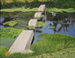 Painting: stepping stones by Malindachan