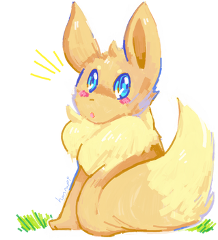 MS Paint Eevee by honrupi