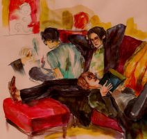 gryffindor common room by crowry
