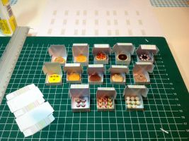 1:12 scale Cakes and Pastries by Almadejonge