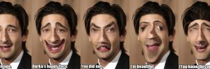Adrian Brody's modified face compilation by WaWor