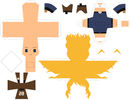 Papercraft pattern - Texas by porcelian-doll