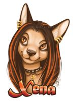Xena Badge Commission by GoldenDruid