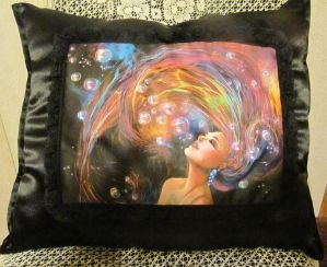 Thought of love by DA's DarkRone Art Pillow by ObsidianRavenShadow