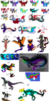Left Over Adoptables 2 [CLOSED] by LavaSpinosaurus