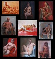 Figure Paintings by Tiearius