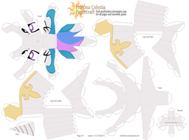 Princess Celestia pattern 1of4 by muffinshire