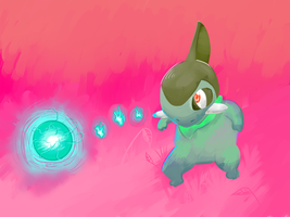 Axew used Dragon Pulse by vanillasmeargle